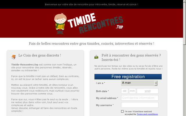 Rencontre timide